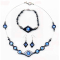 Hematite Set Blue Jewelry