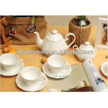 Color blanco cremoso hign calidad microwavable fne hueso porcelana cerámica té café conjunto regalo