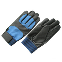PU Palm Spandex Back Mechanic Work Glove-7102