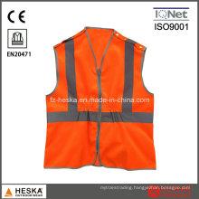 Orange Reflectivehigh Visibility Work Vest