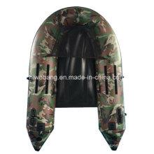 Barco inflável barco de PVC verde militar para a pesca