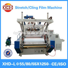 three layer pe stretch film extruder XHD 55/80/55*1250
