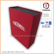 Caja de regalo rectangular de embalaje de moda con logotipo de Foiling