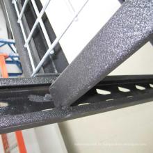 Rack industriel enduit par poudre / rayonnage multicouche avec la plate-forme de fil
