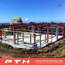 Estructura de acero de alta calidad prefabricada del bajo costo para Warehouse