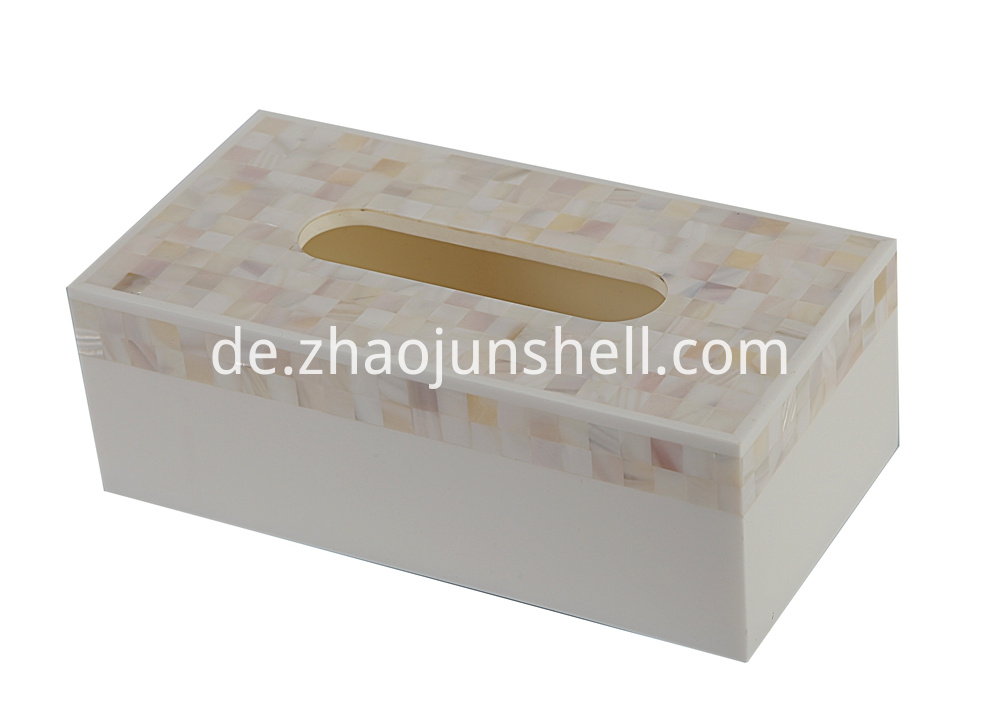 river shell tissue box