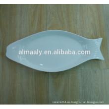 Placa de pescado de porcelana de magnesia de buena calidad