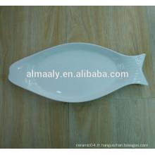 Plaque de poisson en porcelaine en magnésie de bonne qualité