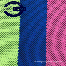 100 Poly cool feeling honey comb weft knit  mesh fabric for functional sports wear