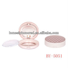 Elegant design mini round powder compact for makeup packaging