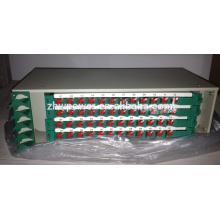 Vente chaude rack 19 pouces monté 1/2/3/4/5/6 / 7U ODF, boîte de distribution de fibres, boîte à bornes optique, boîte de finition optique