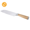 New arrival high quality natural bamboo handle stainless steel kitchen knife set