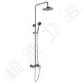 Conjunto de chuveiro de latão de latão de banheiro de louças sanitárias