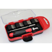 22PC 28mm Length Screwdriver Bit Set with Ratchet Handle