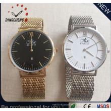 Reloj de pulsera de lujo de la correa de la correa de Nato del diamante Reloj de pulsera de la caja de acero inoxidable de cuarzo Japón Miyota