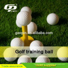 White palstice golf wiffle ball with wholes for training