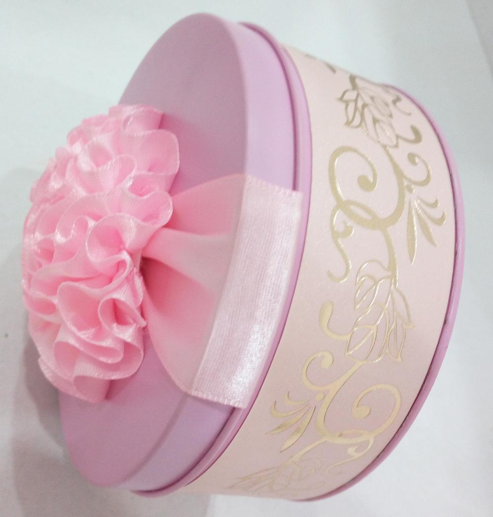 Pink Color Wedding Candy Tin
