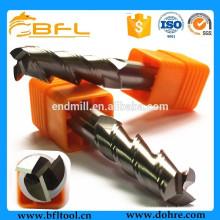 Double outil de coupe de fraise en bout de secours de BFL, outils de coupe en aluminium