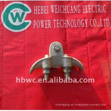 torre de transmisión eléctrica, abrazadera de suspensión galvanizada en baño caliente