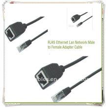 Adaptador de alta calidad RJ45 macho a cable hembra Cable de adaptador de red Ethernet Lan