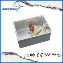 Évier de cuisine en acier inoxydable fabriqué à la main (ACS5043A1)