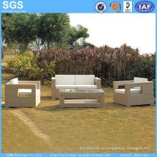 Мебель из ротанга PE 4PCS Set Открытый диван Садовая мебель