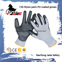 13G Gary Lind Palm Black PU Coated Labor Glove