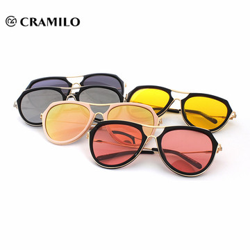 Custom logo printed lens cheap orange sunglasses