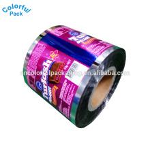 Filme de rolo de folha de alumínio impresso / filme de rolo de embalagem de alimentos / filme de rolo laminado