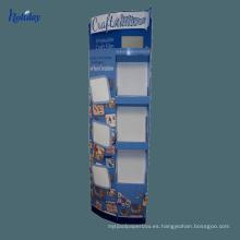 Estante de exhibición de bolígrafo de papel de cartón de varios niveles