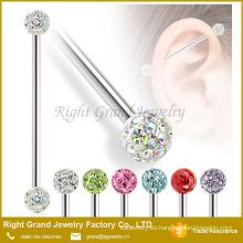 Nuevo diseño de acero inoxidable cuerpo piercing barbell Industrial de joyería