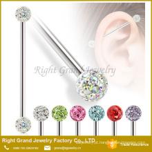 Novo design inox body piercing barbell Industrial de jóias