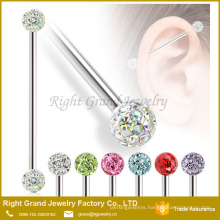 New design Stainless steel body piercing jewelry Industrial barbell