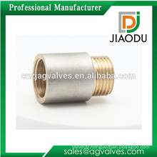 1/2 3/4 1 Inch 10 15 20 25 32 40 50 60 70 80 90 100 mm Female Male Nickel or chrome plated Yellow thread brass Nipple Socket
