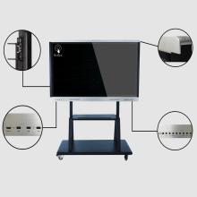 Tela interativa da educação de 70 polegadas com suporte móvel