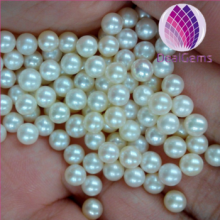 Wholesale white loose freshwater round pearl 5--5.5mm no hole loose pearl for jewelry necklace