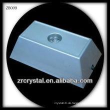 Rechteck Kunststoff-LED-Licht Base für Crystal