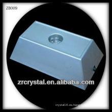 Rectángulo de plástico LED Base ligera para cristal