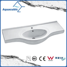 Semi-Recessed Bathroom Ceramic Cabinet Basin Hand Washing Sink (ACB4412)