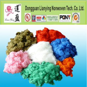Guata de poliéster sólida Reciclar fibra de poliéster