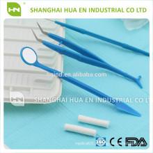 Kit de cirurgia oral de 6 peças, kits de instrumentos descontínidos Instrumentos de instrumentos dentários