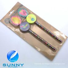 2015 Holz Bleistift mit Radiergummi Schreibwaren Blister Card Set