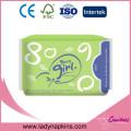 Muestra gratis cuidado adicional almohadillas mujeres marca sanitaria fabricante de la servilleta