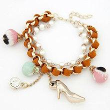 Fashion Bracelets Double Layers Handmade Pearl Bracelets Jewelry Wholesale FB24