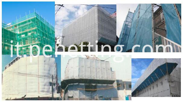 PVC mesh tarpaulin application