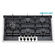 5 Rings Built In Tempered Glass Gas Hob