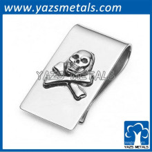 clip de dinheiro de crânio de aço inoxidável
