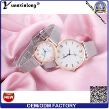 Yxl-639 Luxury Love Forever Fashion Wrist Stainless Steel Mesh Band Couple Wrist Watch for Wedding Gifts