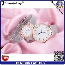 YXL-639 роскошь любовь навсегда мода запястье из нержавеющей стали сетка группы пара наручные часы для свадебных подарков
