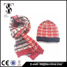 El sombrero hecho a mano 2014 del invierno de la manera hizo punto la bufanda del invierno de la gorrita tejida
